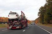 Truck Transporting Cars — Stock Photo