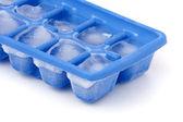 Frozen Ice Cube Tray — Stock Photo