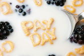 Pay Day Cereal Letters — Stock Photo