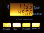 Gas Pump Prices — Stock Photo