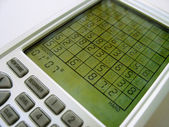 Electronic Sudoku — Stock Photo