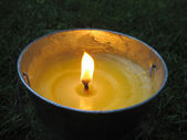Citronella bucket candle — Stock Photo