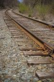 Demiryolu parça perspektif — Stok fotoğraf