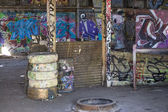Graffiti cubierto barrios — Foto de Stock