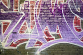 Spraypainted graffiti — Stockfoto