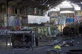 涂鸦涵盖贫民窟 — 图库照片