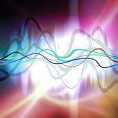 Grafisk ljudvågformen — Stockfoto