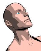Bald man illustration — Stock Photo