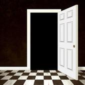 Geöffnete tür eingang — Stockfoto