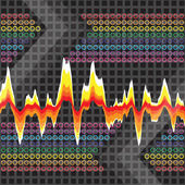 Graphic Audio Waveform — Stock Photo