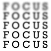 Focus Chart Scale — Stock Photo