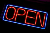 Neon OPEN Sign — Stock Photo