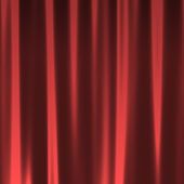 Red Curtain Seamless Pattern — Stock Photo