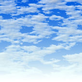 Clouds over blue — Stock Photo