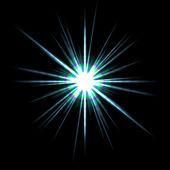 Solar Flare Star Burst — Stockfoto