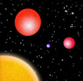 3D Planets In Space — Stock Photo