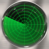 Clear Radar Screen — Stock Photo