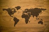 Wood Map — Stock Photo