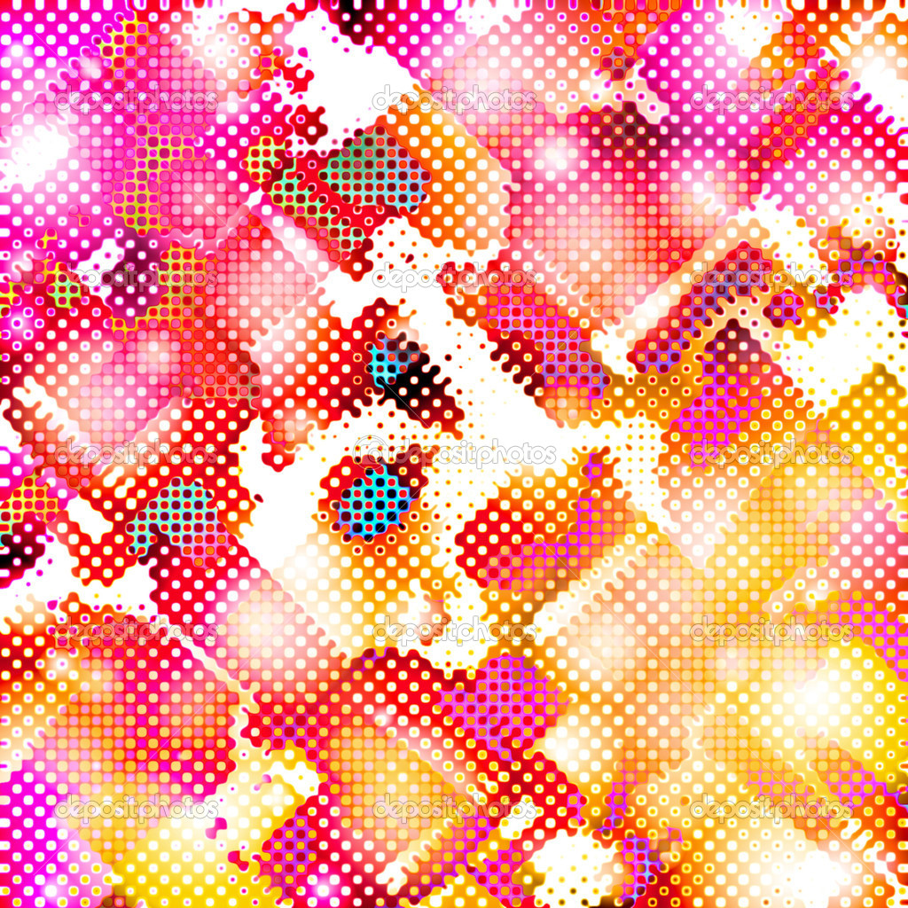 A funky texture with halftone dots and circles. — Stock Photo #8805213