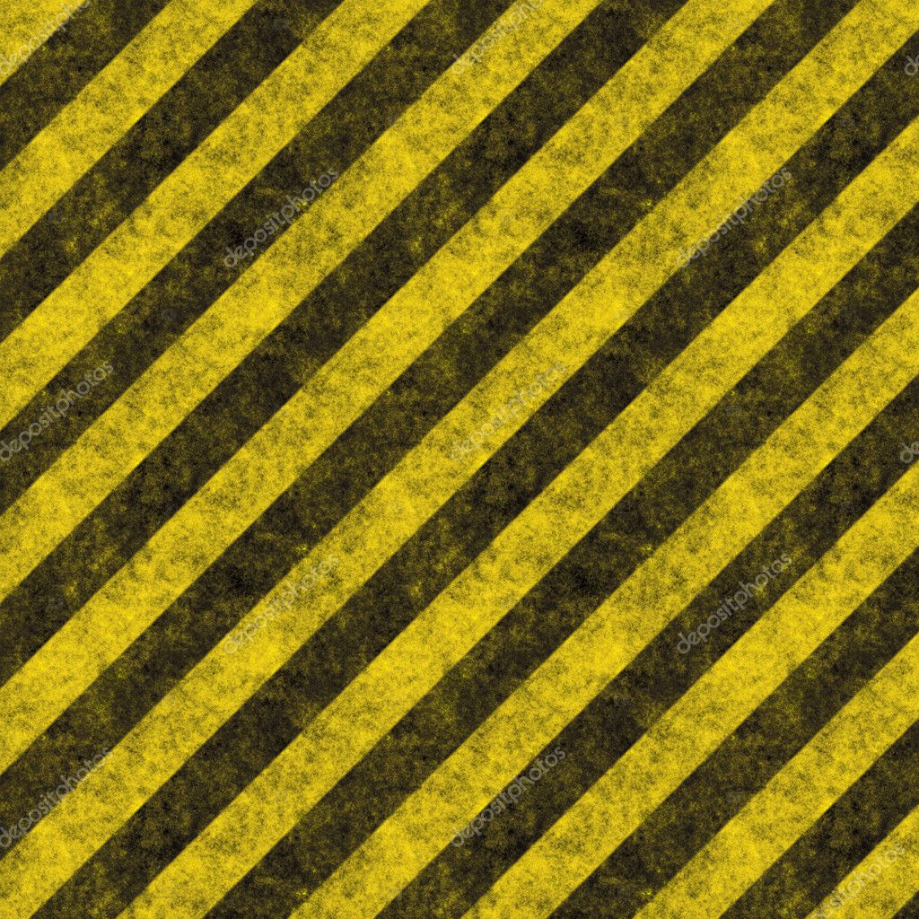Diagonal hazard stripes texture.  These are weathered, worn and grunge-looking — Stock Photo #8805490