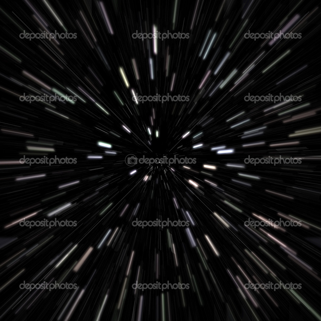 Illustration of a star field with high speed effects to show movement. — Stock Photo #8806864