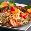 Thai Sausage with Som Tum Salad — Stock Photo #8891519