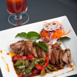 Thai Roast Chile Basil Duck — Stock Photo
