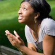 Young Woman Praying — Stock Photo #8943752