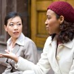 Business Women Talking — Stock Photo #8944087