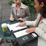 Business Women Talking — Stock Photo