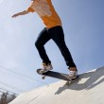 Skateboarder on a Ramp — Stock Photo #8944135
