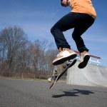 Skateboarder Jumping — Stock Photo