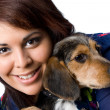Stock Photo: Girl With a Puppy