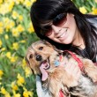Happy pet-Besitzer — Stockfoto