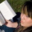 Stock Photo: Young Woman Reading