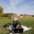Girl with Laptop — Stock Photo #8944449