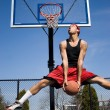 Man Dunking a Basketball — Stock Photo #8944590
