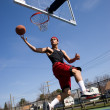 Man Playing Basketball — Stock Photo #8944603