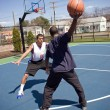 Man Playing Basketball — Stock Photo #8944652