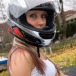 Biker Chick — Stock Photo