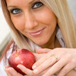 Woman and Apple — Stock Photo #8944771