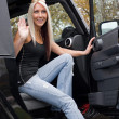 Getting Out of Car — Stockfoto #8944782