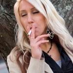 Smoking a Cigarette — Stock Photo