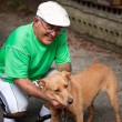 Old Man and His Dog — Stock Photo #8945024