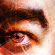 Stock Photo: Cyber Crime Eye