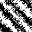 Triangular Tribal Pattern b&w — Stock Photo