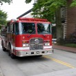 Moving Fire Engine — Stock Photo