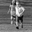 Little Kids Running — Stock Photo
