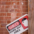 Danger Hard Hat Area — Stock Photo