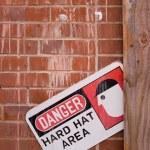 Danger Hard Hat Area — Stock Photo